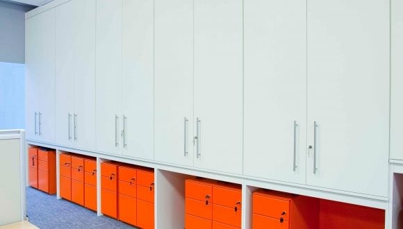 Staff lockers, Milton Keynes Office Fit Out